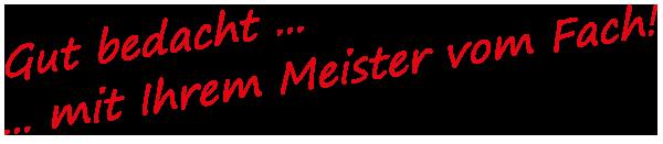 Dachdecker Bernd Schneider Gut bedacht mit Ihrem Meister vom Fach